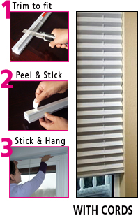 Corded Pleated Blinds
